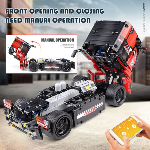 Mould King 15002 Technic Series The Red Racing Remote Control Car Assembly Kits 42041 Building Blocks 5