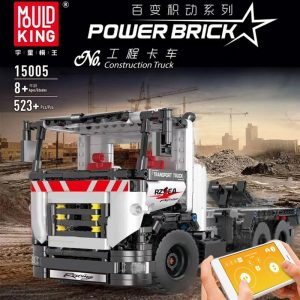 Mould King 15005 Technic Series The Constrouction Remote Control Truck Model With Motor Function Building Blocks 1