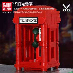 Mould King 16031 Streetview Building Blocks The Barber Shop In Town Model With Led Light Assembly 4