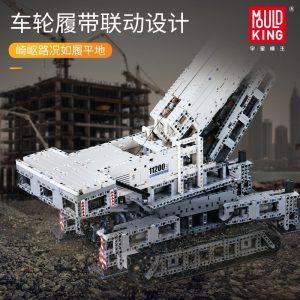 Mould King 17002 Technic App Remote Control Liebherrs Ltm Excavator Truck Model Moc Truck Building Blocks 3