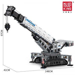 Mould King 17002 Technic App Remote Control Liebherrs Ltm Excavator Truck Model Moc Truck Building Blocks 5
