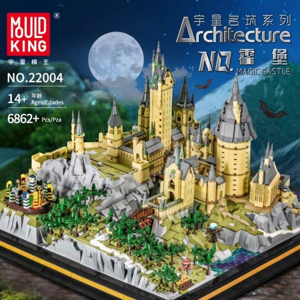 Mould King 22004 Movie Streetview Sets School Castle Model Sets Building Model Blocks Kids Educational Toys 1