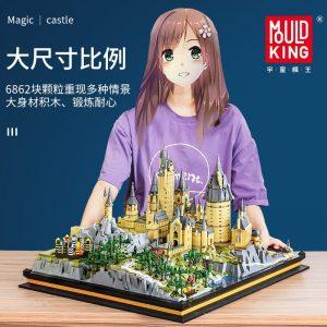 Mould King 22004 Movie Streetview Sets School Castle Model Sets Building Model Blocks Kids Educational Toys 2