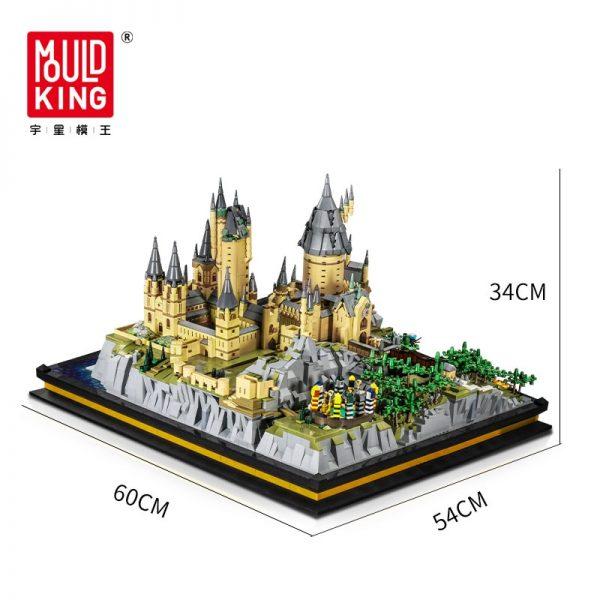 Mould King 22004 Movie Streetview Sets School Castle Model Sets Building Model Blocks Kids Educational Toys 5