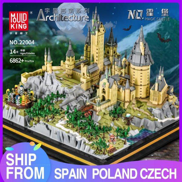 Mould King 22004 Movie Streetview Sets School Castle Model Sets Building Model Blocks Kids Educational Toys