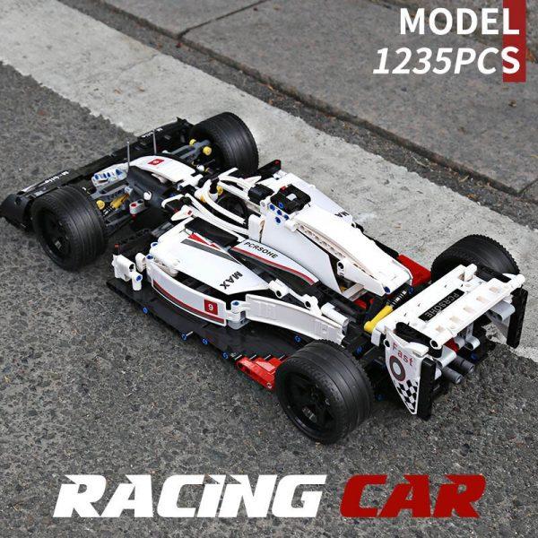 Mould King Moc 13117 Technic City F1 Racing Car The 24 Hours Race Car Model Building 2