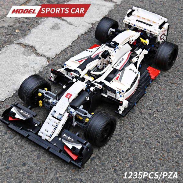 Mould King Moc 13117 Technic City F1 Racing Car The 24 Hours Race Car Model Building 3
