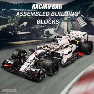 Mould King Moc 13117 Technic City F1 Racing Car The 24 Hours Race Car Model Building 4