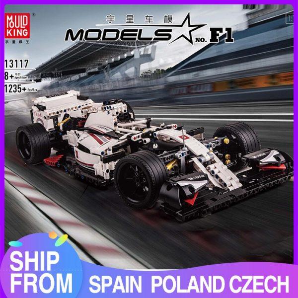 Mould King Moc 13117 Technic City F1 Racing Car The 24 Hours Race Car Model Building