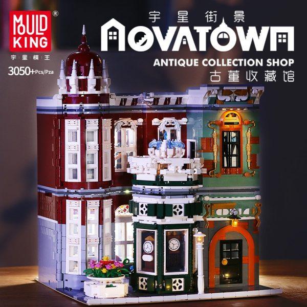 Mould King Moc Street View Creator Series Antique Collection Shop Building Blocks Bricks For Children Toys 1