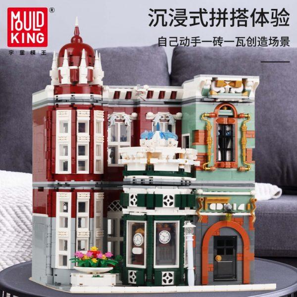 Mould King Moc Street View Creator Series Antique Collection Shop Building Blocks Bricks For Children Toys 3