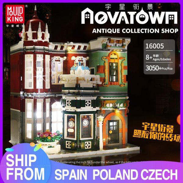Mould King Moc Street View Creator Series Antique Collection Shop Building Blocks Bricks For Children Toys