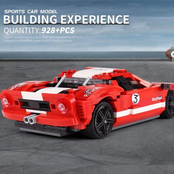 Mould King Moc Technic Car Toys Red Phanton Fords Gt Racing Car Model 10001 Building Blocks 2