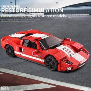 Mould King Moc Technic Car Toys Red Phanton Fords Gt Racing Car Model 10001 Building Blocks 3
