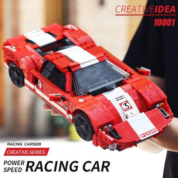 Mould King Moc Technic Car Toys Red Phanton Fords Gt Racing Car Model 10001 Building Blocks 5