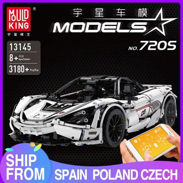 Mould King Moc Technic Series Mclaren P1 720s Racing Car Model Building Blocks Bricks Children Toys