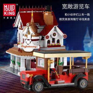 Mould King Moc The Paradises Corner Restaurant Building Model Sets 11003 Assemble Blocks Bricks Kids Diy 2