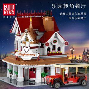 Mould King Moc The Paradises Corner Restaurant Building Model Sets 11003 Assemble Blocks Bricks Kids Diy 3