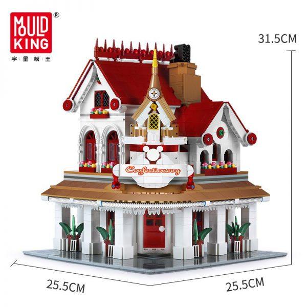 Mould King Moc The Paradises Corner Restaurant Building Model Sets 11003 Assemble Blocks Bricks Kids Diy 4