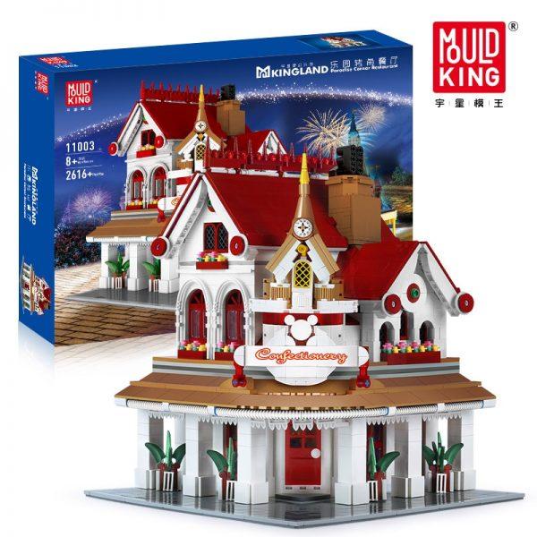 Mould King Moc The Paradises Corner Restaurant Building Model Sets 11003 Assemble Blocks Bricks Kids Diy 5