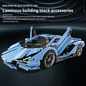 Mould King Remote Control Car Technic Limborghinis Racing Car Model Set Building Blocks 13056 Kids Diy 2