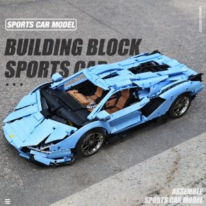 Mould King Remote Control Car Technic Limborghinis Racing Car Model Set Building Blocks 13056 Kids Diy 3