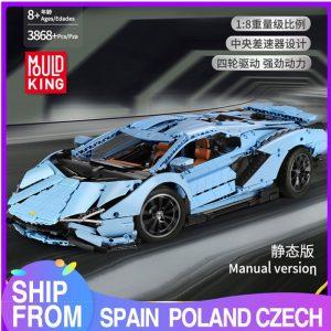 Mould King Remote Control Car Technic Limborghinis Racing Car Model Set Building Blocks 13056 Kids Diy