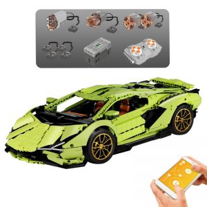 Mould King Remote Control Car Technic Limborghinis Racing Car Model Set Building Blocks 13056 Kids Diy 4