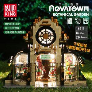 Mould King Streetview Building Toys Model The Moc Botanical Garden With Led Lights Set 16019 Blocks 3