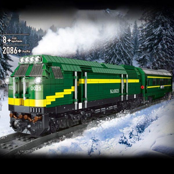 Mould King 12001 City Series The Nj2 Diesel Locomotives Remote Control Truck Building Blocks Bricks Kids 1