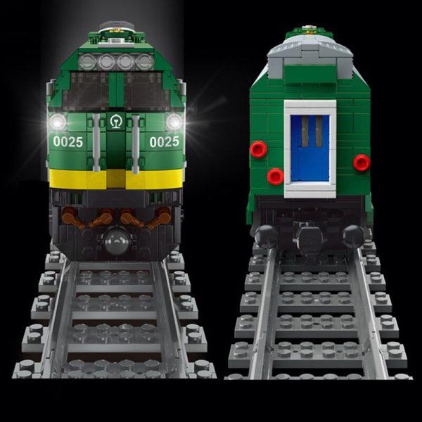 Mould King 12001 City Series The Nj2 Diesel Locomotives Remote Control Truck Building Blocks Bricks Kids 4