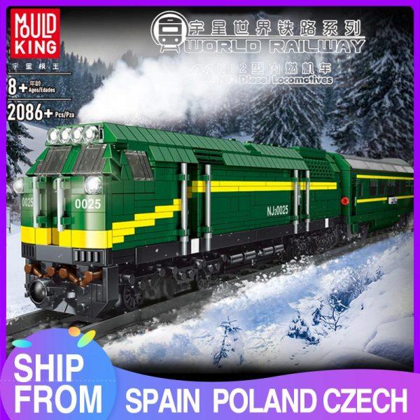 Mould King 12001 City Series The Nj2 Diesel Locomotives Remote Control Truck Building Blocks Bricks Kids