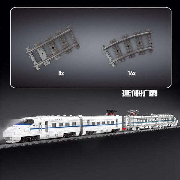 Mould King 12002 City World Railway The Crh2 High Speed Train Remote Control Train Building Blocks 3