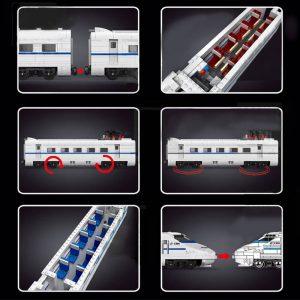 Mould King 12002 City World Railway The Crh2 High Speed Train Remote Control Train Building Blocks 4