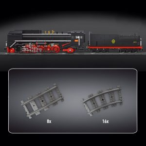 Mould King 12003 City Series The Qj Steam Locomotives Remote Control Train Building Blocks Bricks Kids 2