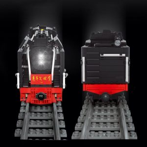 Mould King 12003 City Series The Qj Steam Locomotives Remote Control Train Building Blocks Bricks Kids 3