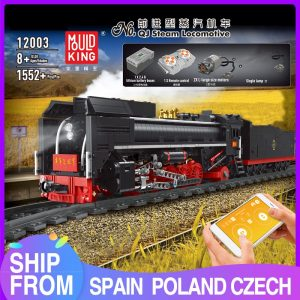 Mould King 12003 City Series The Qj Steam Locomotives Remote Control Train Building Blocks Bricks Kids
