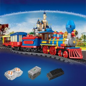 Mould King 12004 City Series The Mkingland Dream Train Remote Control Train Building Blocks Bricks Kids 1