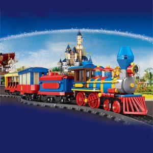 Mould King 12004 City Series The Mkingland Dream Train Remote Control Train Building Blocks Bricks Kids 2