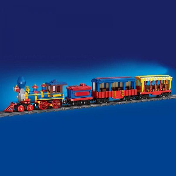 Mould King 12004 City Series The Mkingland Dream Train Remote Control Train Building Blocks Bricks Kids 3