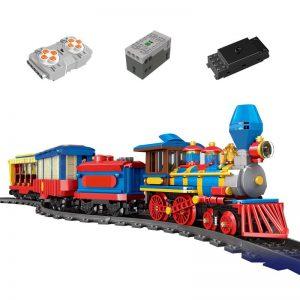 Mould King 12004 City Series The Mkingland Dream Train Remote Control Train Building Blocks Bricks Kids 5