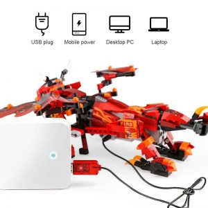 Mould King 13018 App Rc Technic Ninjaoes Dragon Knight Model Building Blocks 70602 Bricks Toys For 3