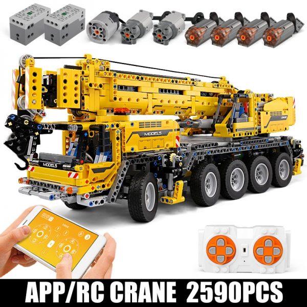 Mould King 13107 Technic Series Motor Power Mobile Crane Mk Ii Model Kits Model Building Blocks 1