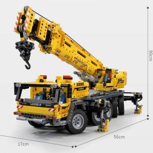 Mould King 13107 Technic Series Motor Power Mobile Crane Mk Ii Model Kits Model Building Blocks 2