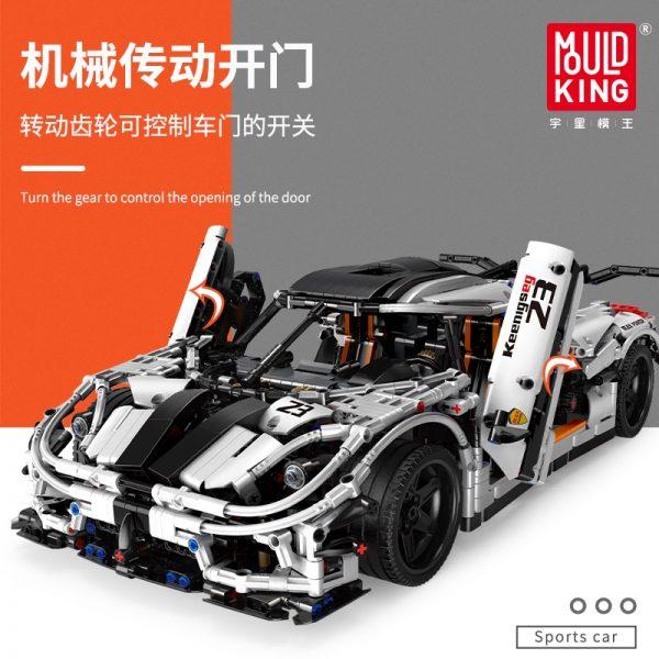 Mould King 13120 Technic Series Koenigsegged Sports Racing White Car Model Building Blocks Bricks 23002 Kids 1