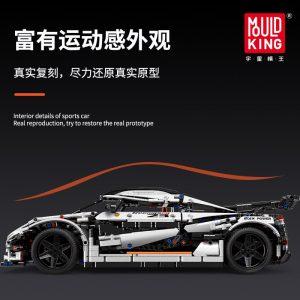 Mould King 13120 Technic Series Koenigsegged Sports Racing White Car Model Building Blocks Bricks 23002 Kids 3