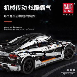 Mould King 13120 Technic Series Koenigsegged Sports Racing White Car Model Building Blocks Bricks 23002 Kids 4