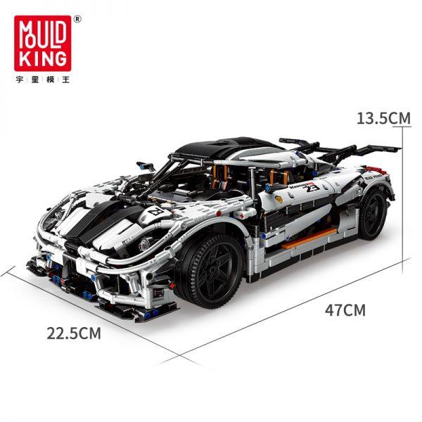 Mould King 13120 Technic Series Koenigsegged Sports Racing White Car Model Building Blocks Bricks 23002 Kids 5