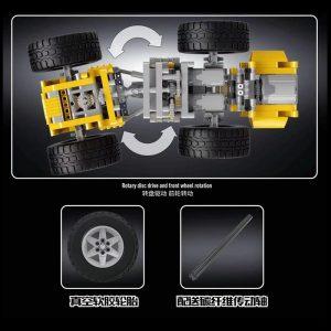 Mould King 13122 Technic Series Volvo L350f Wheel Loader Bulldozer Model Building Blocks Bricks Compatible With 1