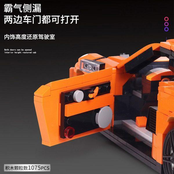Mould King 13129 Technic Gt3 Rsr Speed Racing Sport Car Model Building Blocks Bricks Kids Creative